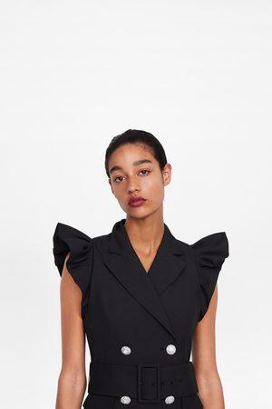Zara Sukienka w stylu kamizelki z falbankami