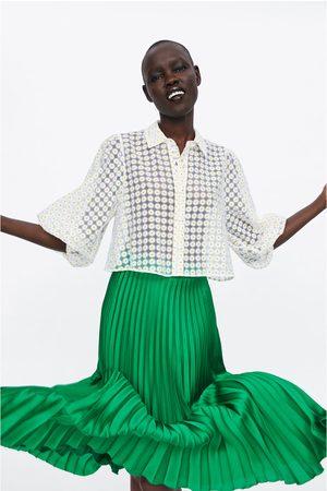 Zara Plisowana spódnica średniej długości
