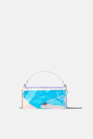 Zara Mini torebka typu city z opalizującym wykończeniem