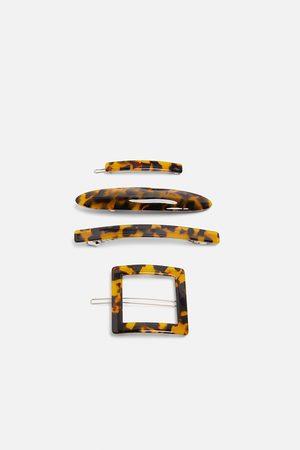 Zara Komplet spinek z tworzywa octanowego