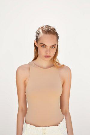 Zara Kobieta Body - Body z dekoltem halter
