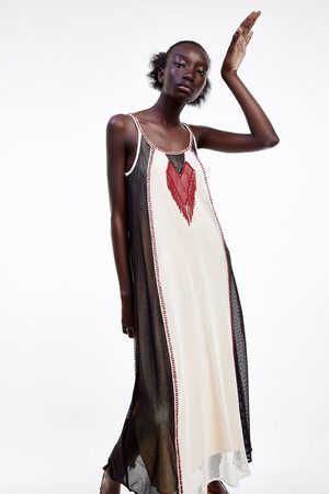 Zara Kobieta Sukienki - Sukienka z koralikami z limitowanej edycji