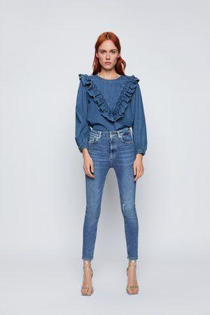 Zara JEANS ZW PREMIUM 80S HIGH WAIST VENICE BLUE