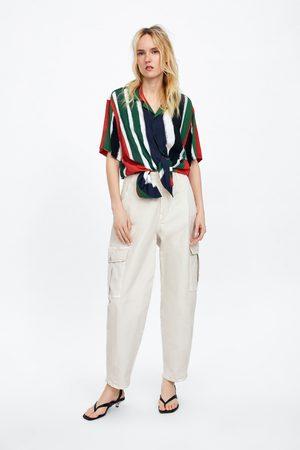Zara Spodnie w stylu slouchy typu cargo