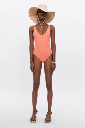 Zara Kobieta Bikini - Kostium kąpielowy z guzikami