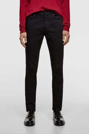 Zara Jednobarwne spodnie rurki