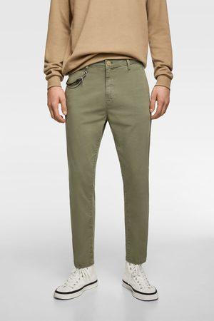 Zara Mężczyzna Chinosy - Spodnie chinosy o krótszym kroju