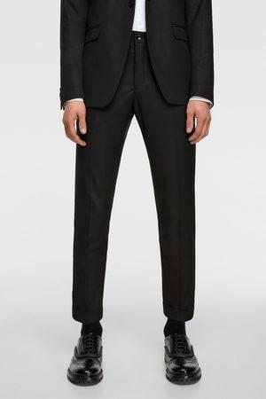 bf84809a900c3 Zara Mężczyzna Spodnie - Spodnie od garnituru z tkaniny strukturalnej