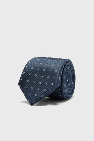 Zara Szeroki dwubarwny krawat