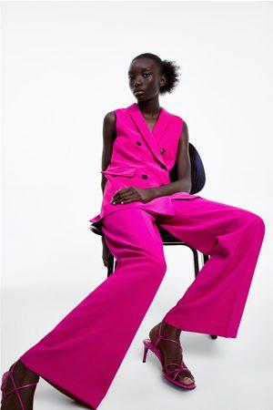 Zara Luźne szerokie spodnie