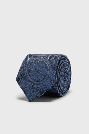 Zara Mężczyzna Krawaty - Szeroki żakardowy krawat w turecki deseń