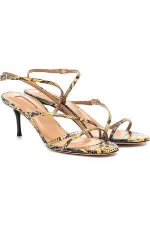 Aquazzura Kobieta Sandały - Carolyne 60 snakeskin sandals