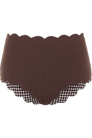 Marysia Exclusive to Mytheresa – Santa Monica reversible gingham bikini bottoms