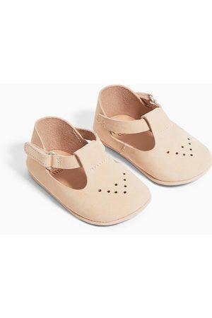Zara Skórzane buty z dziurkowaniem