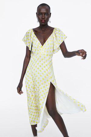 Zara Długa sukienka w kropki