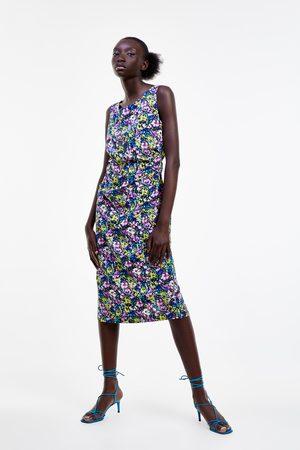 Zara Wzorzysta sukienka ołówkowa