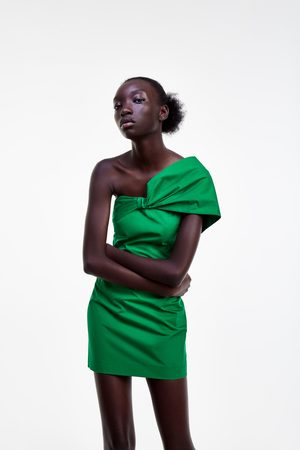 Zara Sukienka z drapowaniem przy dekolcie