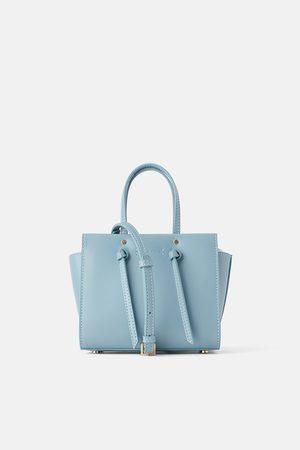 Zara Mini torebka typu city z węzłami