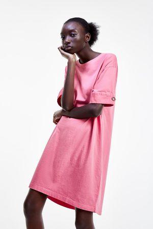 Zara Kobieta Sukienki - Sukienka z guzikami