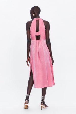 Zara Kobieta Sukienki - Sukienka średniej długości z tkaniny satynowanej