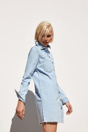 Zara Sukienka jeansowa mini