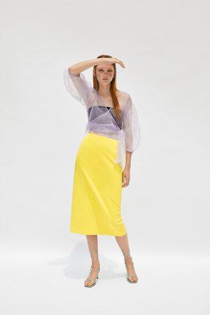Zara Spódnica średniej długości ze specjalnej edycji