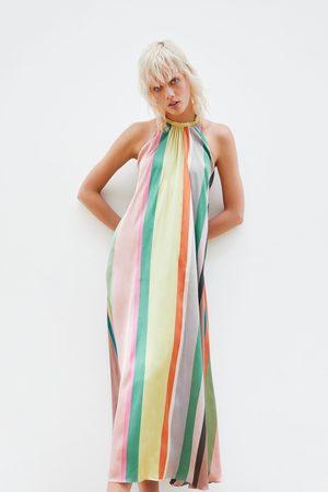 Zara Sukienka w wielokolorowe paski
