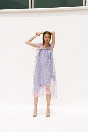 Zara Sukienka z organzy z limitowanej edycji