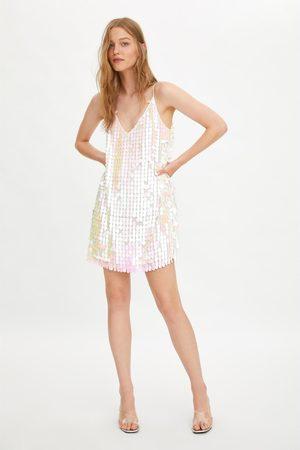 Zara Iridescent sequinned dress