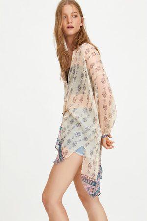 Zara Koszula oversize z nadrukiem