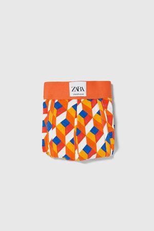 Zara Bokserki bieliźniane w geometryczny deseń