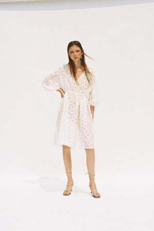Zara Sukienka ze wstawkami z organzy z limitowanej edycji