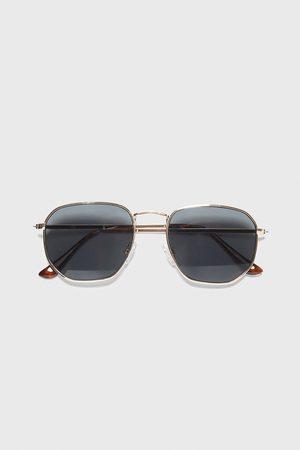 Zara Okulary przeciwsłoneczne w oprawce o geometrycznym kształcie