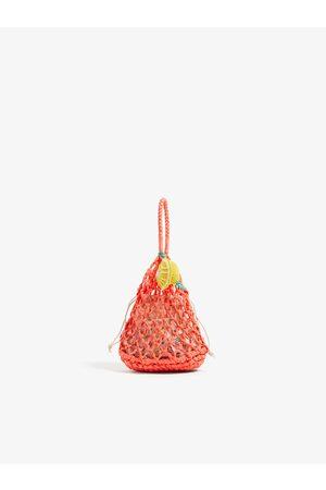 Zara Torba typu shopper z owocami
