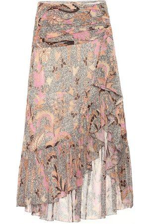 ULLA JOHNSON Ailie cotton and silk-blend skirt