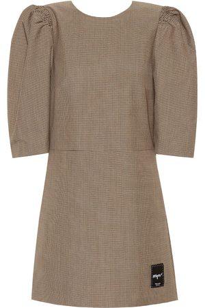 Msgm Checked wool-blend minidress