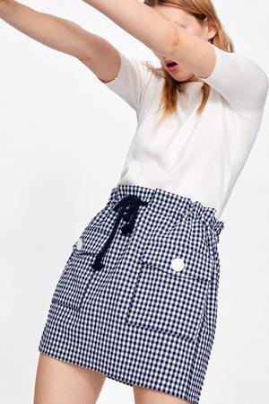 Zara Spódnica mini w drobną kratkę