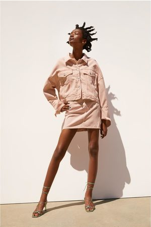 Zara Kobieta Spódnice mini - Jednobarwna spódnica mini