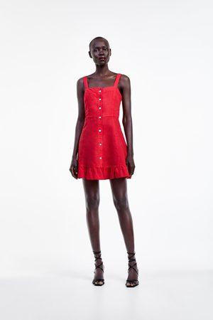 Zara Sukienka mini z falbankami