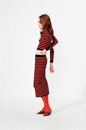 Zara Sweter w paski z lampasami po bokach