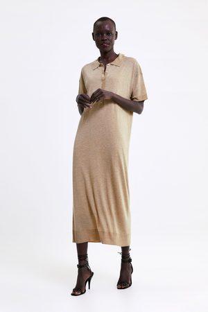 Zara Sukienka z dzianiny o długim kroju