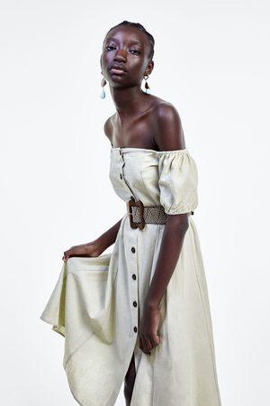 Zara Sukienka z paskiem z plecionki