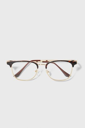 Zara Okulary w oprawce z łączonych materiałów