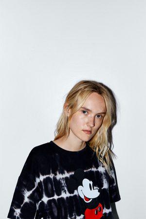 Zara Koszulka farbowana metodą tie dye z myszką miki z filmów ©disneya