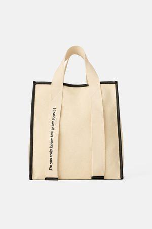 Zara Płócienna torba typu shopper join life