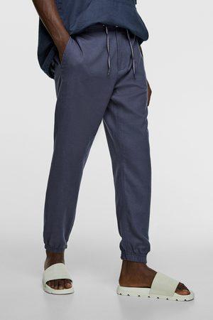 Zara Luźne spodnie joggery