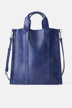Zara Płaska torba typu shopper