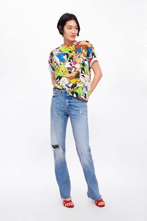 Zara Kobieta Z krótkim rękawem - Koszulka z motywem zwariowanych melodii © warner bros