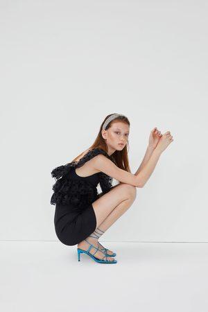 Zara Kobieta Sukienki - Sukienka z łączonych tkanin z falbankami