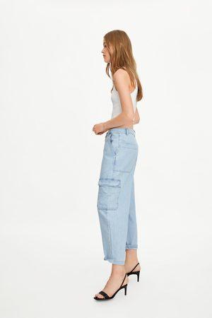 Zara Spodnie jeansowe typu cargo